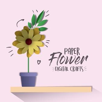 Arte digital de flores de papel