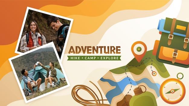 Arte do canal do youtube de aventura gradiente com foto