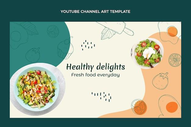 Arte do canal do youtube de comida desenhada à mão