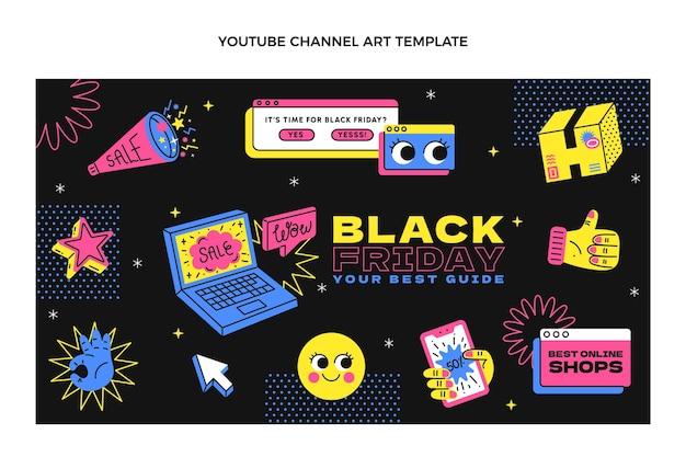 Arte do canal do youtube de sexta-feira desenhada à mão