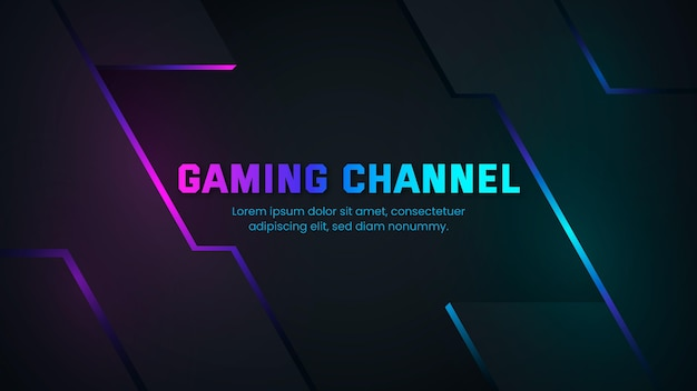 Arte do canal do youtube em gradient gaming