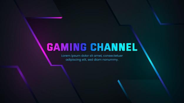 Arte do canal do youtube em gradient gaming