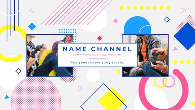 Arte do canal do youtube em jogos criativos