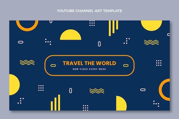 Arte do canal do youtube em viagens planas