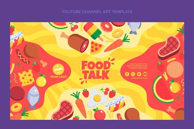 Arte do canal do youtube flat food