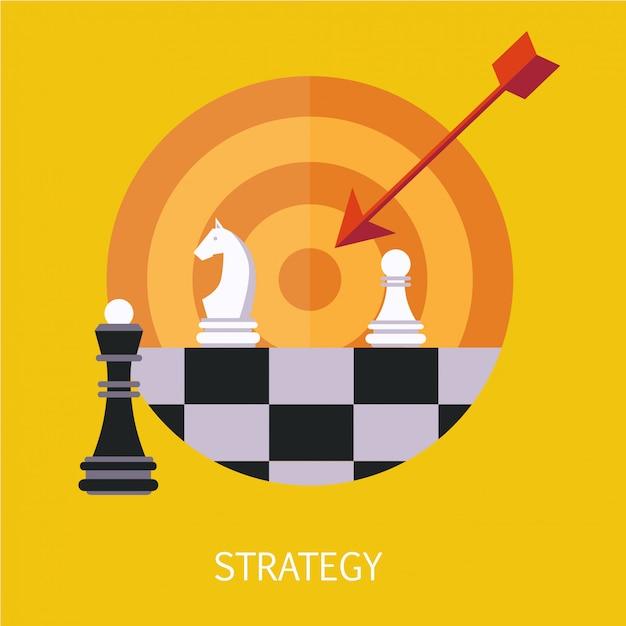 Arte do conceito de estratégia de negócios