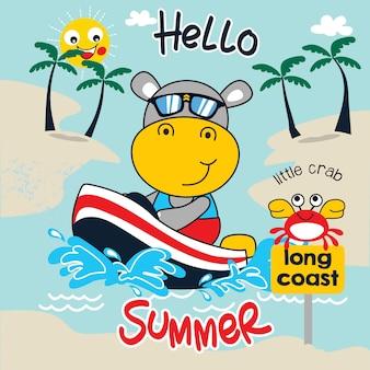 Arte do vetor dos desenhos animados do divertimento de verão