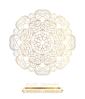 Arte dourada da mandala