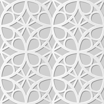Arte em papel 3d sem costura damasco round cross