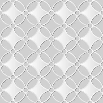 Arte em papel branco moldura redonda de curva cruzada de flores, fundo de padrão de decoração elegante para cartão de banner da web