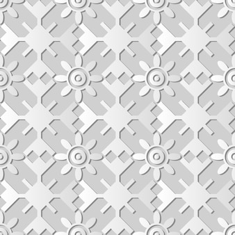 Arte em papel branco polígono geometria redonda cruz moldura flor, decoração elegante de fundo para cartão de banner web