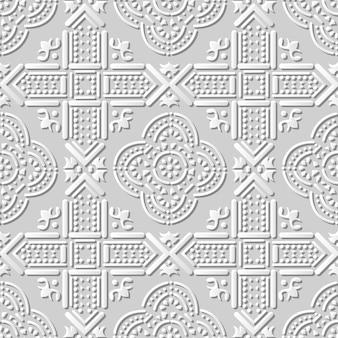 Arte em papel damasco 3d sem costura cross dot geometria