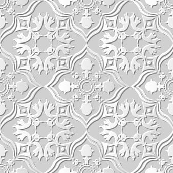 Arte em papel damasco 3d sem costura curve cross kaleidoscope