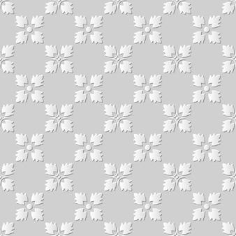 Arte em papel damasco 3d sem costura quadrada flor cruzada