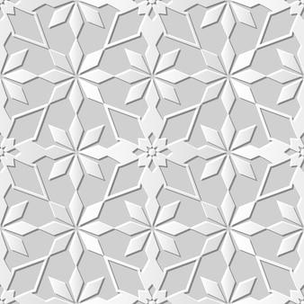 Arte em papel damasco 3d sem costura star cross flower