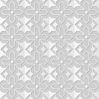 Arte em papel damasco 3d sem costura star cross geometria