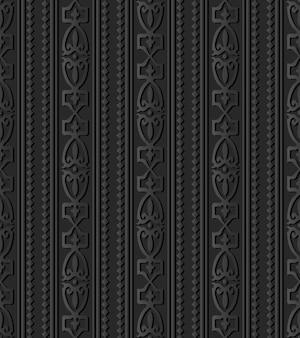 Arte em papel escuro diamond check curve cross crest frame line