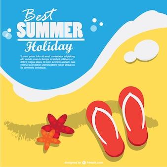 Arte férias de verão vetor