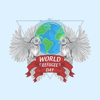 Arte finala do dia mundial dos refugiados
