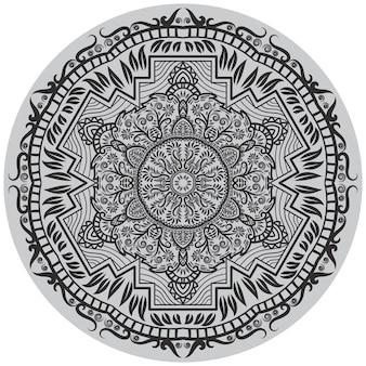 Arte floral mandala círculo