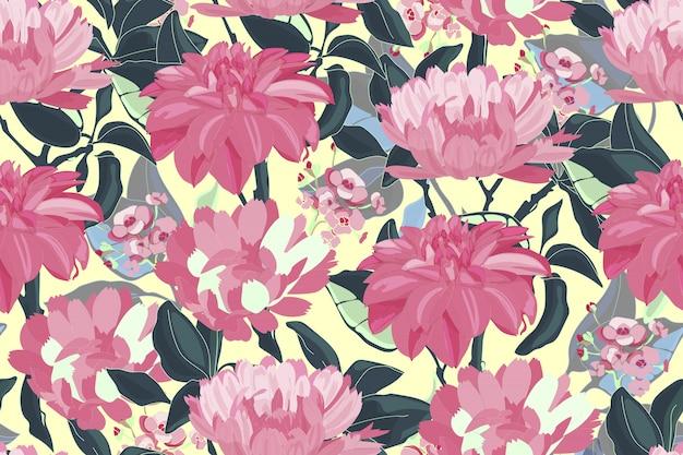 Arte floral padrão sem emenda.