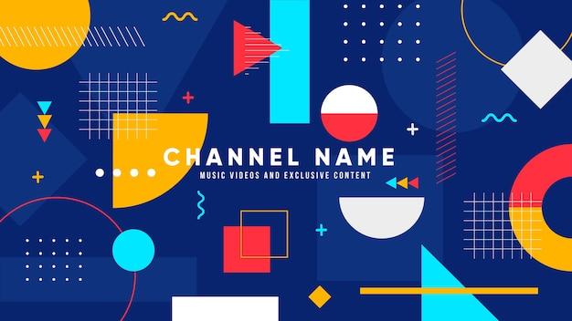 Arte geométrica do canal do youtube de música Vetor grátis
