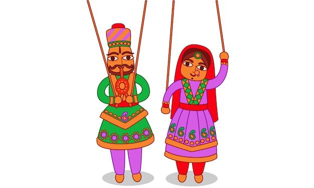 Arte indiana de fantoche de rajastão