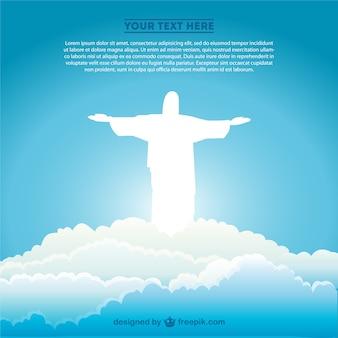 Arte jesus cristo símbolo brasileiro vetor