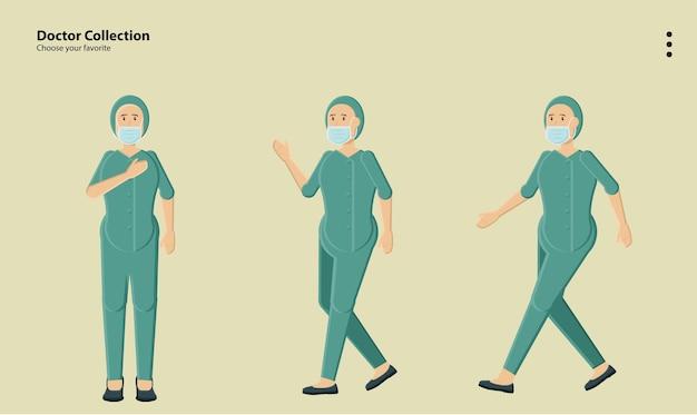 Arte logo campanha animação corpo pose conceito uniforme roupas coleção adulto papel de parede fundo