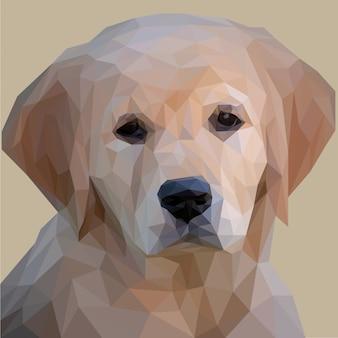 Arte lowpoly do filhote de cachorro adorável