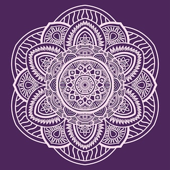Arte mandala abstrata floral