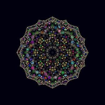 Arte mandala colorida