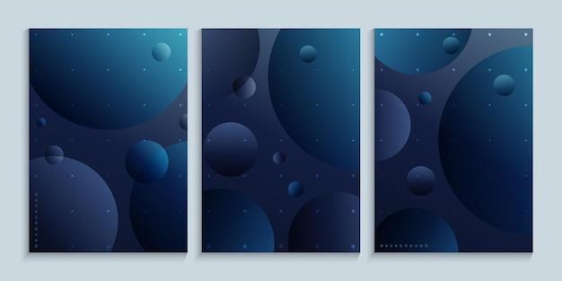 Arte minimalista na parede com planetas no espaço sideral