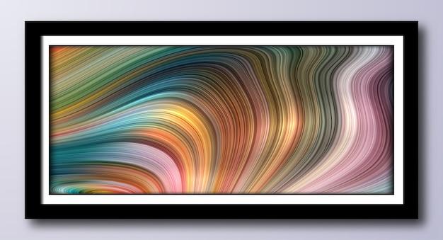 Arte moderna com efeito de mármore misto pintando um fundo moderno abstrato