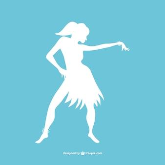 Arte moderna dançarina silhueta