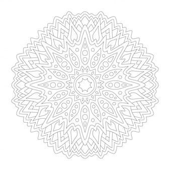 Arte oriental para colorir livro com desenho redondo