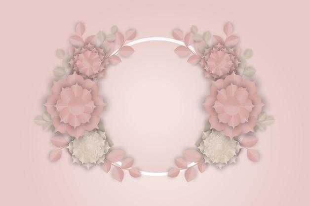 Arte papel de flor