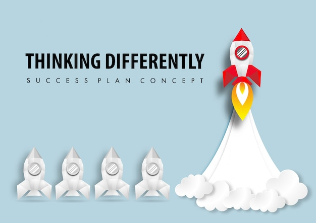 Arte papel de pensar diferentemente