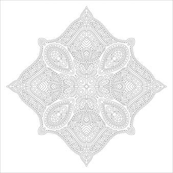 Arte para colorir livro com padrão linear preto