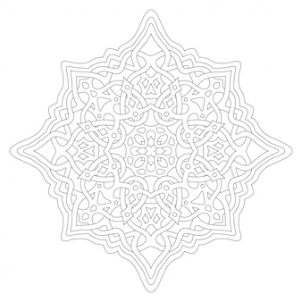 Arte para colorir página de livro com design celta