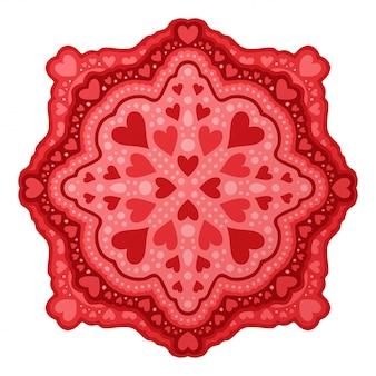 Arte para dia dos namorados santo com formas de coração vermelho