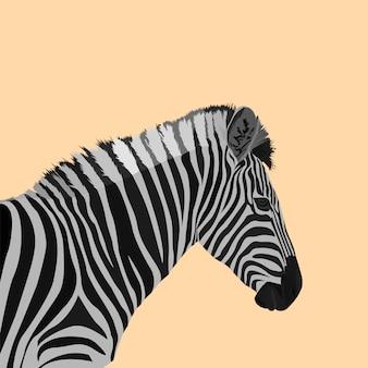 Arte poligonal de zebra