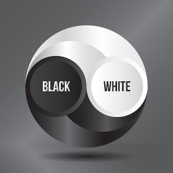 Arte preto e branco do círculo 3d