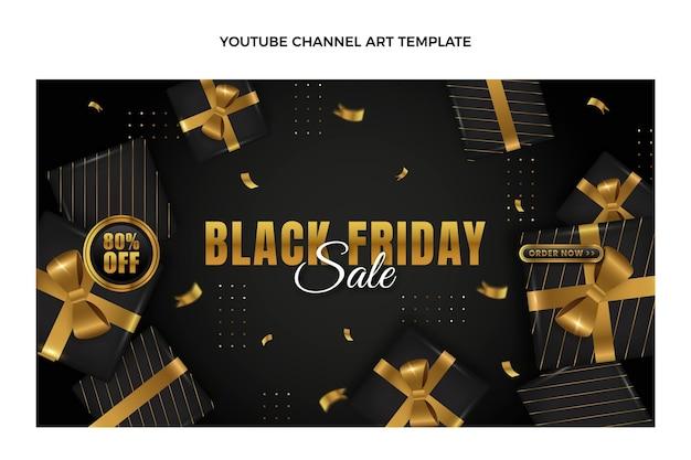 Arte realista do canal do youtube em black friday