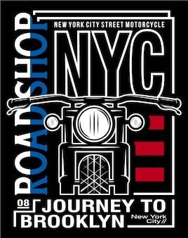 Arte tipográfica da motocicleta, ilustração gráfica de vetor