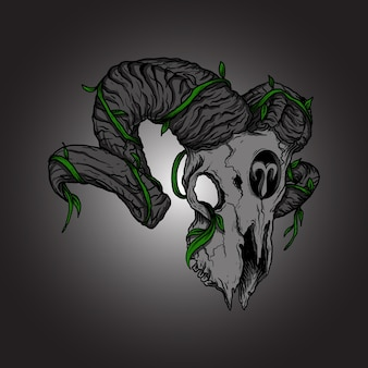 Arte trabalho ilustração desenho aries crânio zodíaco