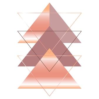 Arte triangular abstrata de estilo escandinavo