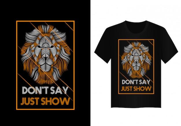 Arte vetorial de leão para design de camisa de t