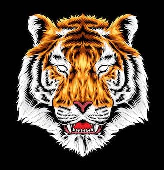 Arte vetorial de tigre