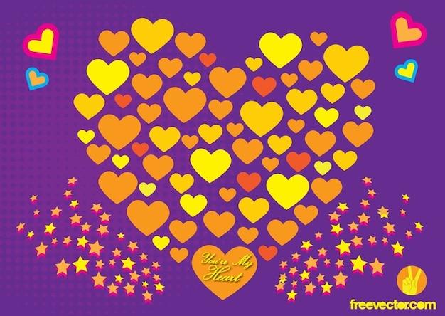 Arte vetorial livre amor